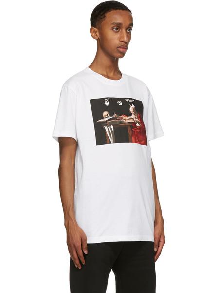 Белая футболка с принтом Караваджо Off-White, фото