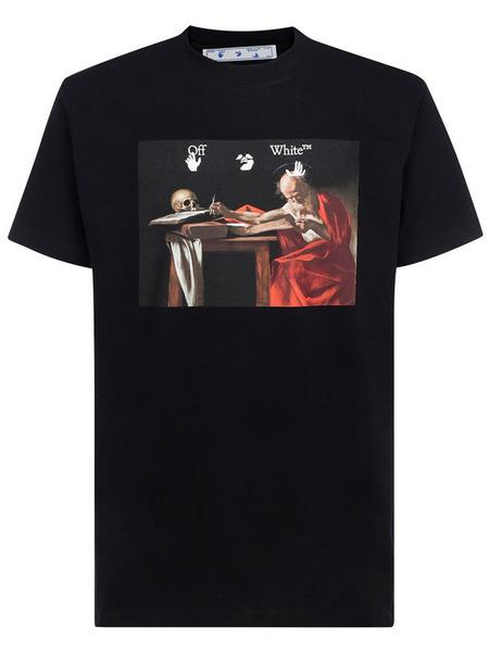 Черная футболка Caravaggio Off-White, фото
