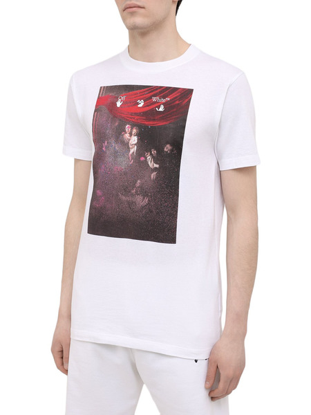 Белая футболка с принтом Caravaggio Off-White, фото