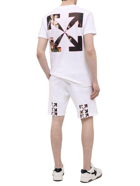 Белая футболка с принтом Caravaggio