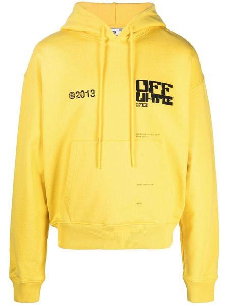 Желтое худи с логотипом Arrows Off-White, фото