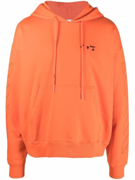 Худи с логотипом Orange Diag OW Off-White, фото