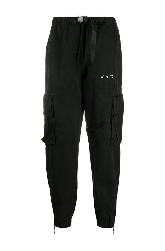 Черные спортивные брюки карго с логотипом Off-White, фото