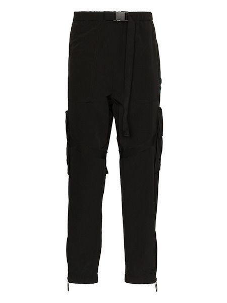 Черные брюки карго прямого кроя