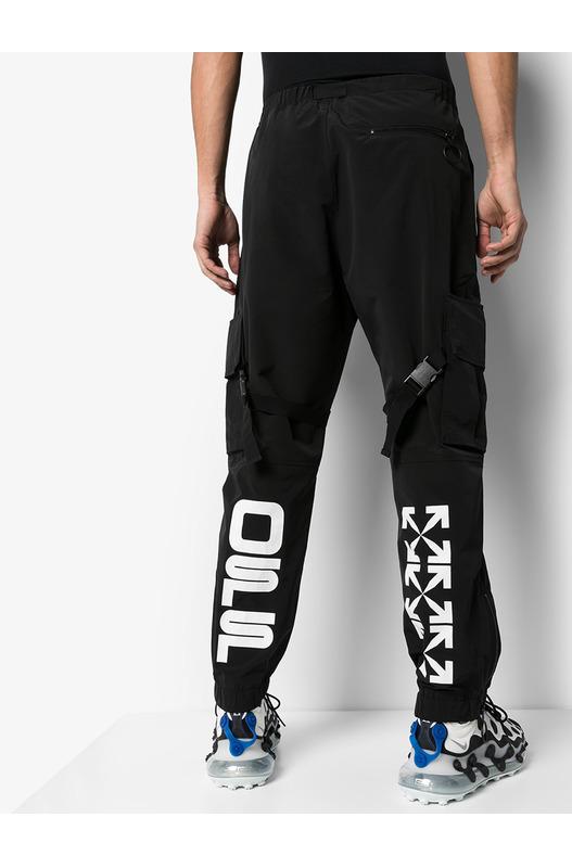 Черные брюки карго прямого кроя Off-White, фото