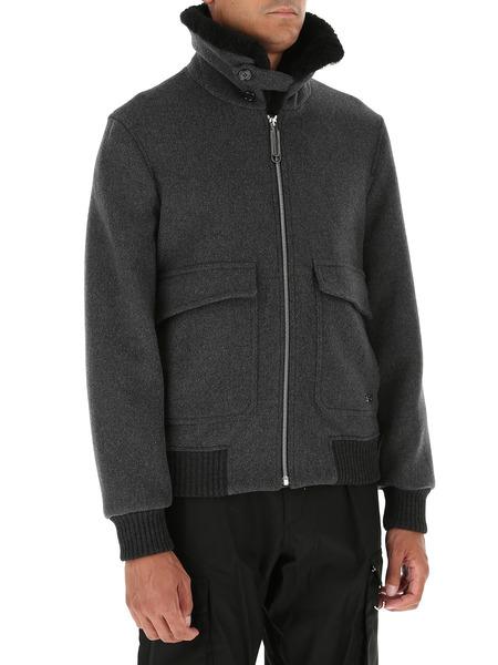 Темно-серая куртка из шерсти Off-White, фото