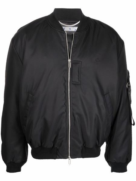 Куртка-бомбер черного цвета на молнии Off-White, фото