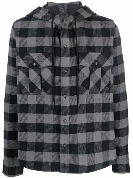 Клетчатая рубашка с капюшоном Arrows Off-White, фото