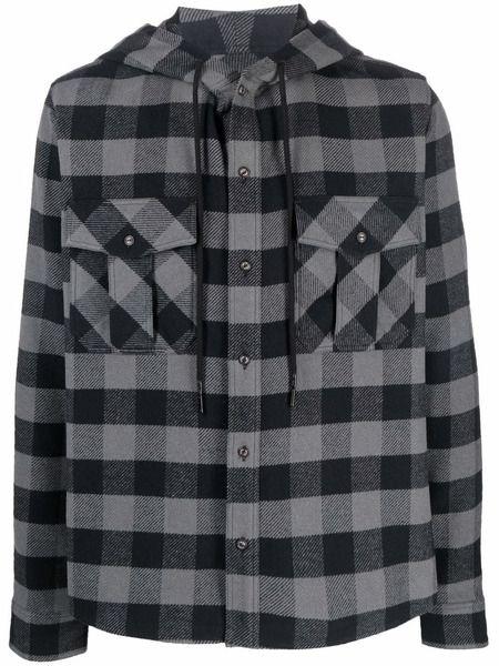 Клетчатая рубашка с капюшоном Arrows Off-White фото