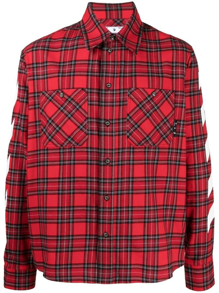 Красная рубашка Diag в клетку Off-White фото