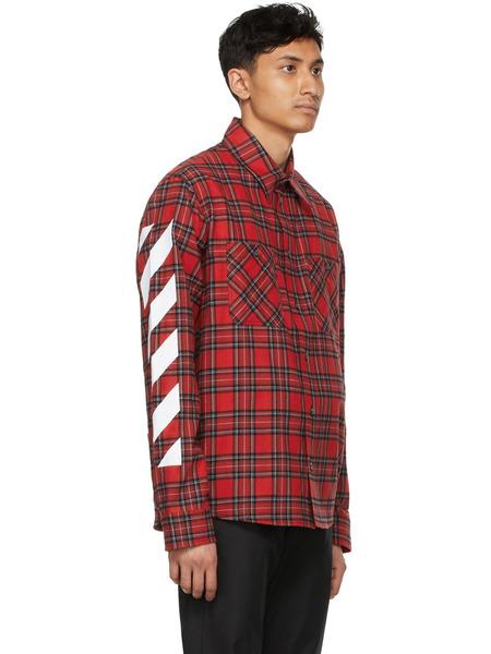 Красная рубашка Diag в клетку Off-White, фото