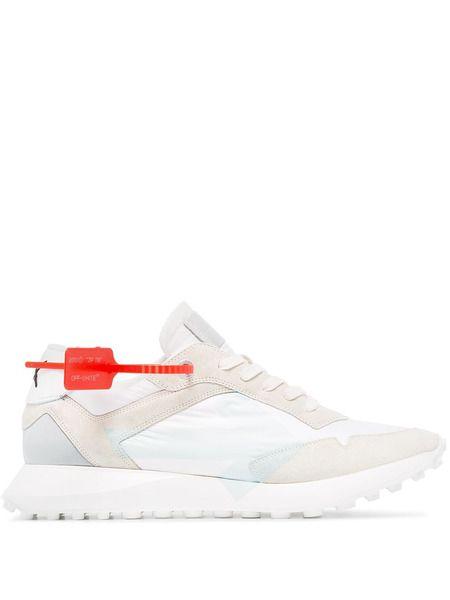 Светлые кроссовки Zip Tie с логотипом Off-White фото