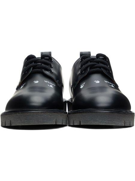 Черные кожаные туфли дерби