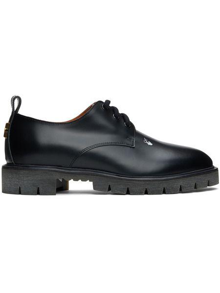 Черные кожаные туфли дерби Off-White фото