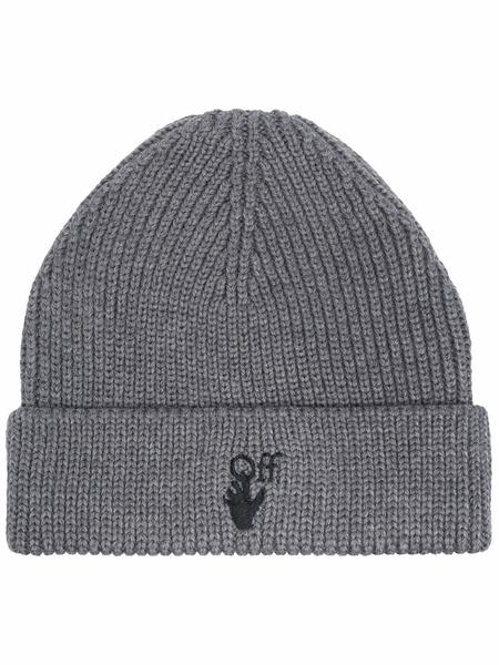 Серая шерстяная шапка Hand Off Off-White, фото