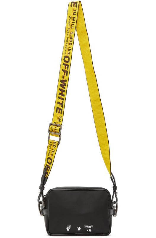 Черная сумка через плечо с логотипом Off-White, фото