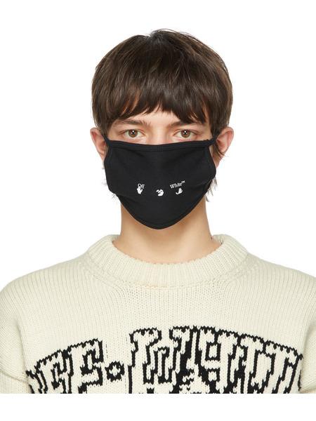 Черная маска с логотипом Off-White, фото