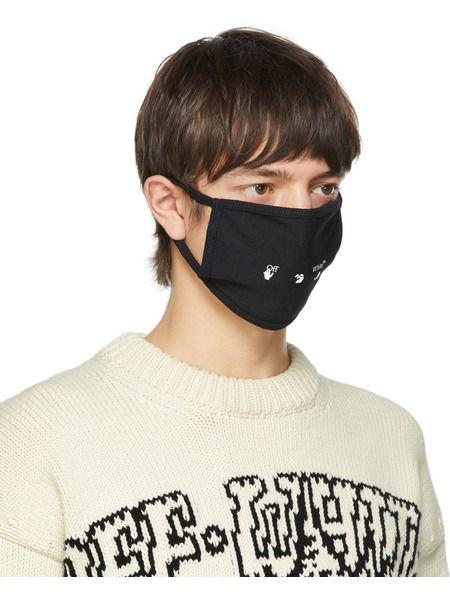 Черная маска с логотипом