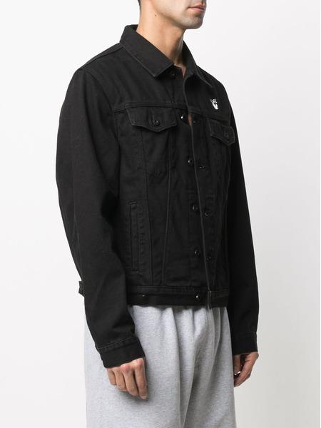 Джинсовая куртка с принтом Mona Lisa Off-White, фото