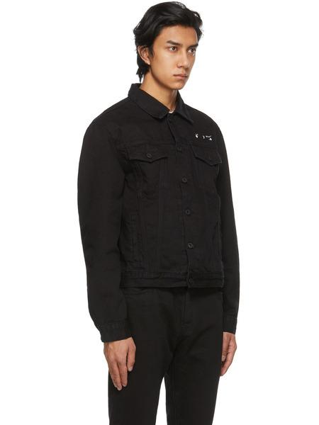 Черная джинсовая куртка с принтом Arrows Off-White, фото