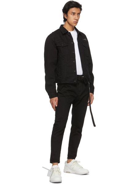 Черная джинсовая куртка с принтом Arrows