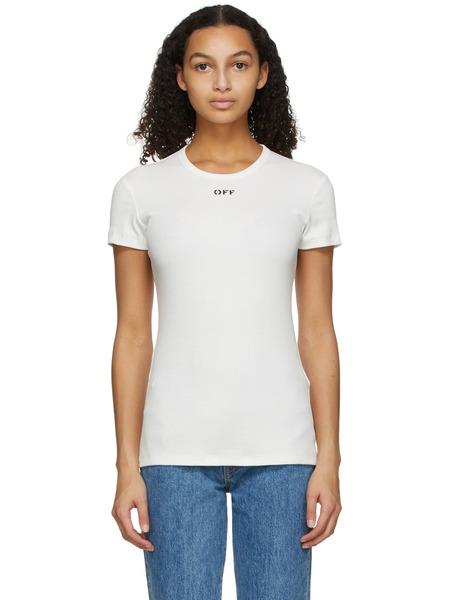 Белая базовая футболка Off-White, фото