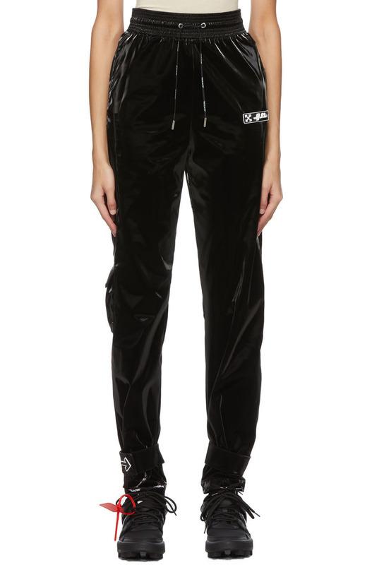 Черные бархатные брюки Arrow Off-White, фото