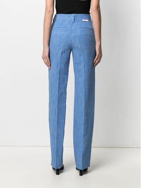Голубой блейзер Tomboy и брюки прямого кроя