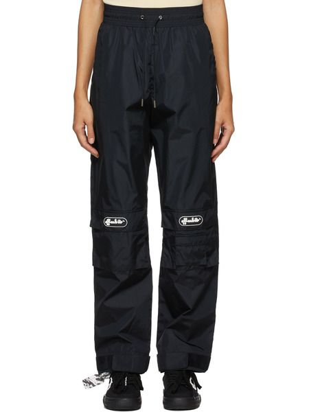 Черные брюки с нашивкой-логотипом Off-White фото