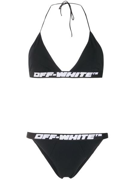 Черный купальник бикини с логотипом Off-White, фото