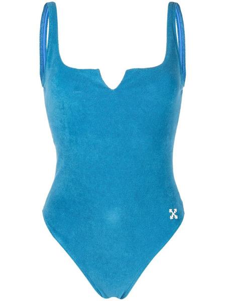 Синий закрытый купальник Arrows Off-White, фото