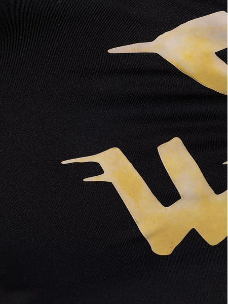 Бикини с логотипом черного цвета