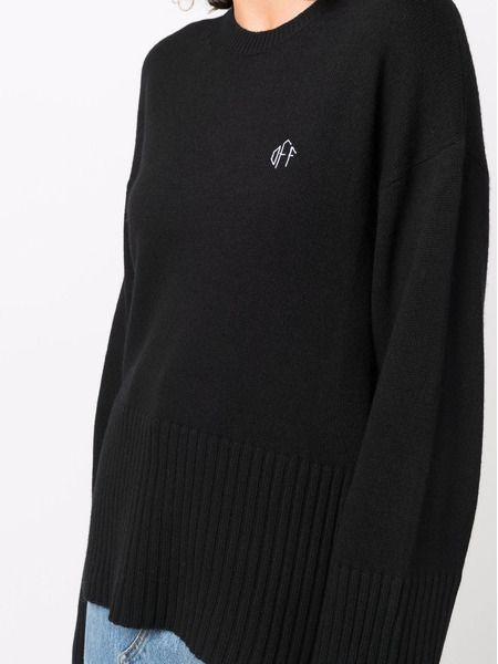 Черный джемпер с вышитым логотипом