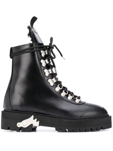 Черные ботинки хайкеры Off-White, фото