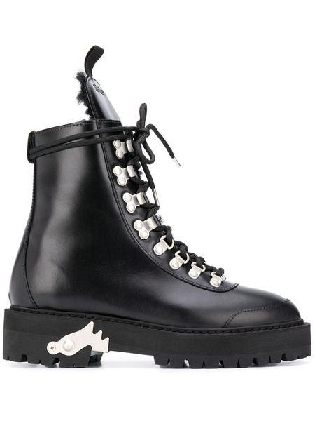 Черные ботинки хайкеры Off-White фото