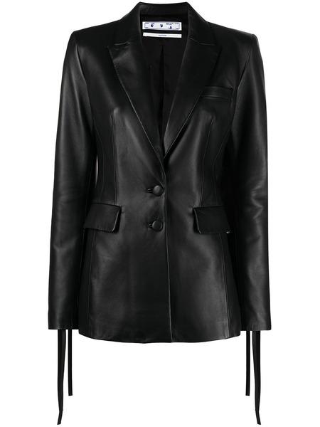 Кожаный пиджак на пуговицах Off-White, фото