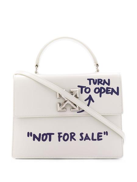 Белая сумка-тоут Quote Off-White, фото