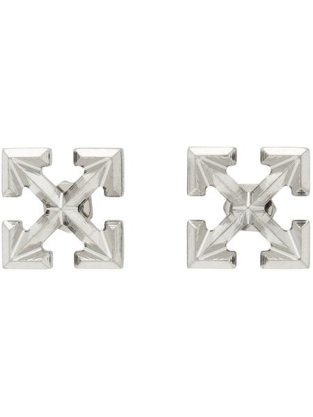 Серьги-гвоздики с логотипом Arrows Off-White, фото