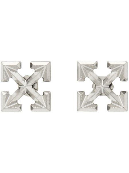 Серьги-гвоздики с логотипом Arrows Off-White фото