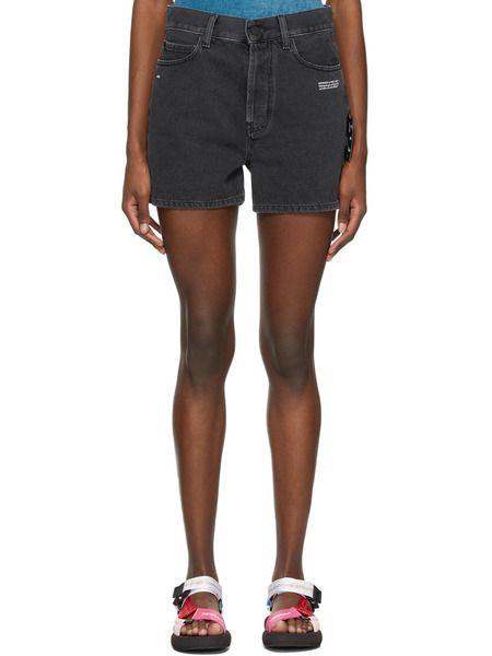 Черные джинсовые шорты средней посадки