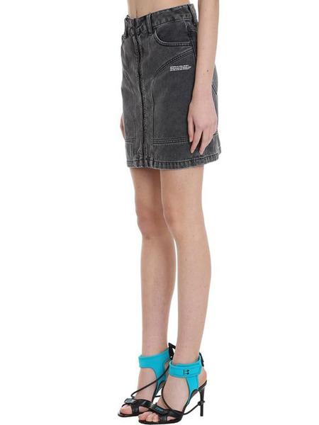 Джинсовая юбка на молнии Off-White, фото