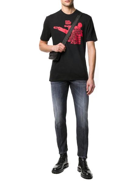 Черная футболка Bruce Lee с надписью Dsquared2, фото
