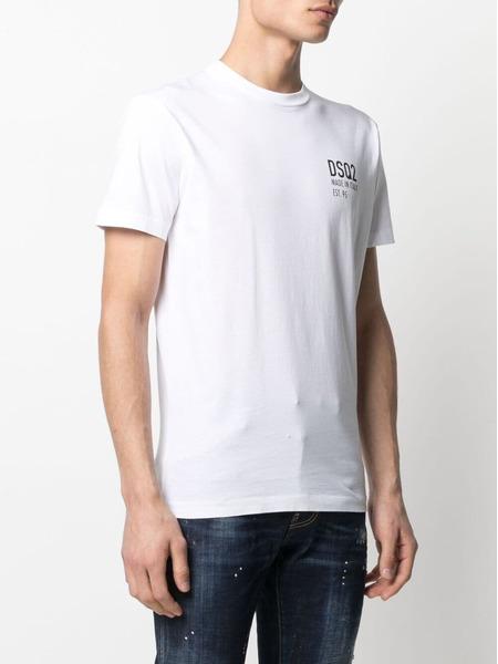 Белая футболка с логотипом Dsquared2, фото