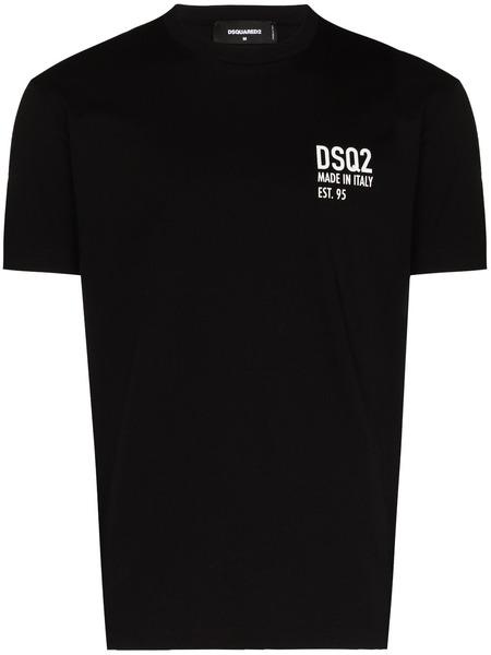 Черная футболка DSQ2 с принтом Made in Italy Dsquared2 фото