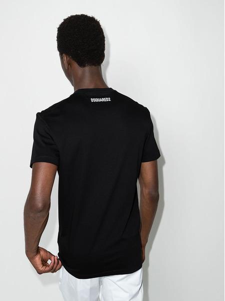 Черная футболка DSQ2 с принтом Made in Italy Dsquared2, фото