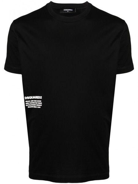 Черная базовая футболка с логотипом Dsquared2, фото
