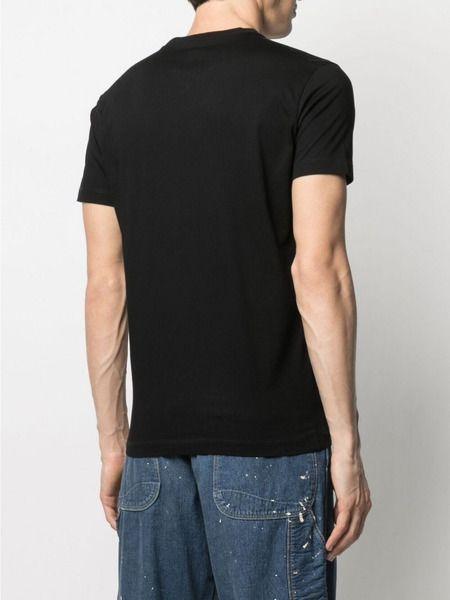 Черная базовая футболка с логотипом