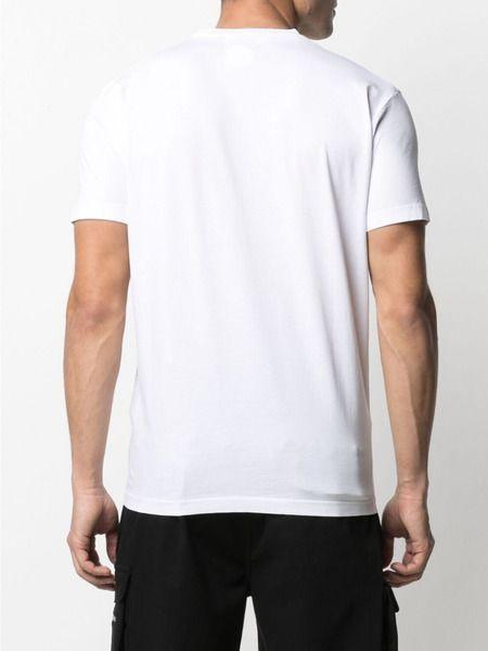 Белая футболка из хлопка с логотипом