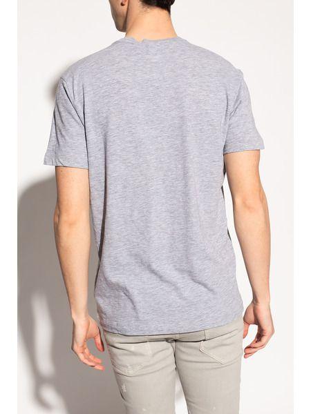 Серая футболка с принтом на груди