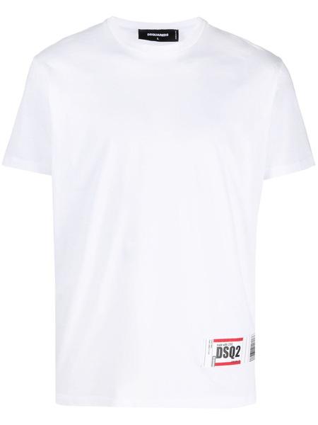 Белая футболка с нашивкой-логотипом Dsquared2 фото